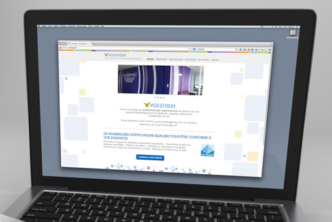 Volutique - Site web vitrine - Agence IMAGIC