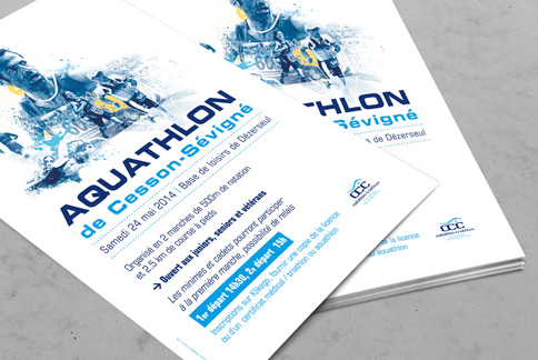 OCC Natation-Triathlon - Flyer - Agence IMAGIC